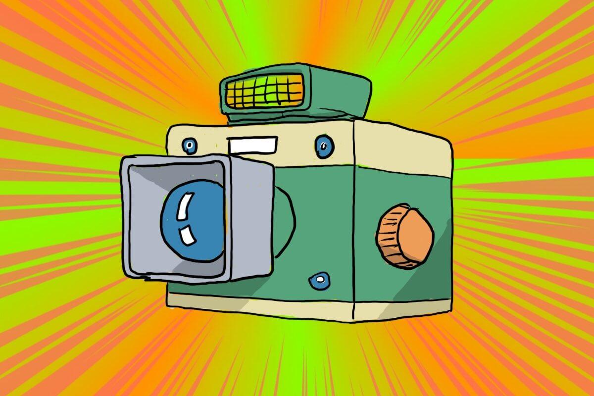 ポラロイドインスタントミニチュアせいぞうカメラ