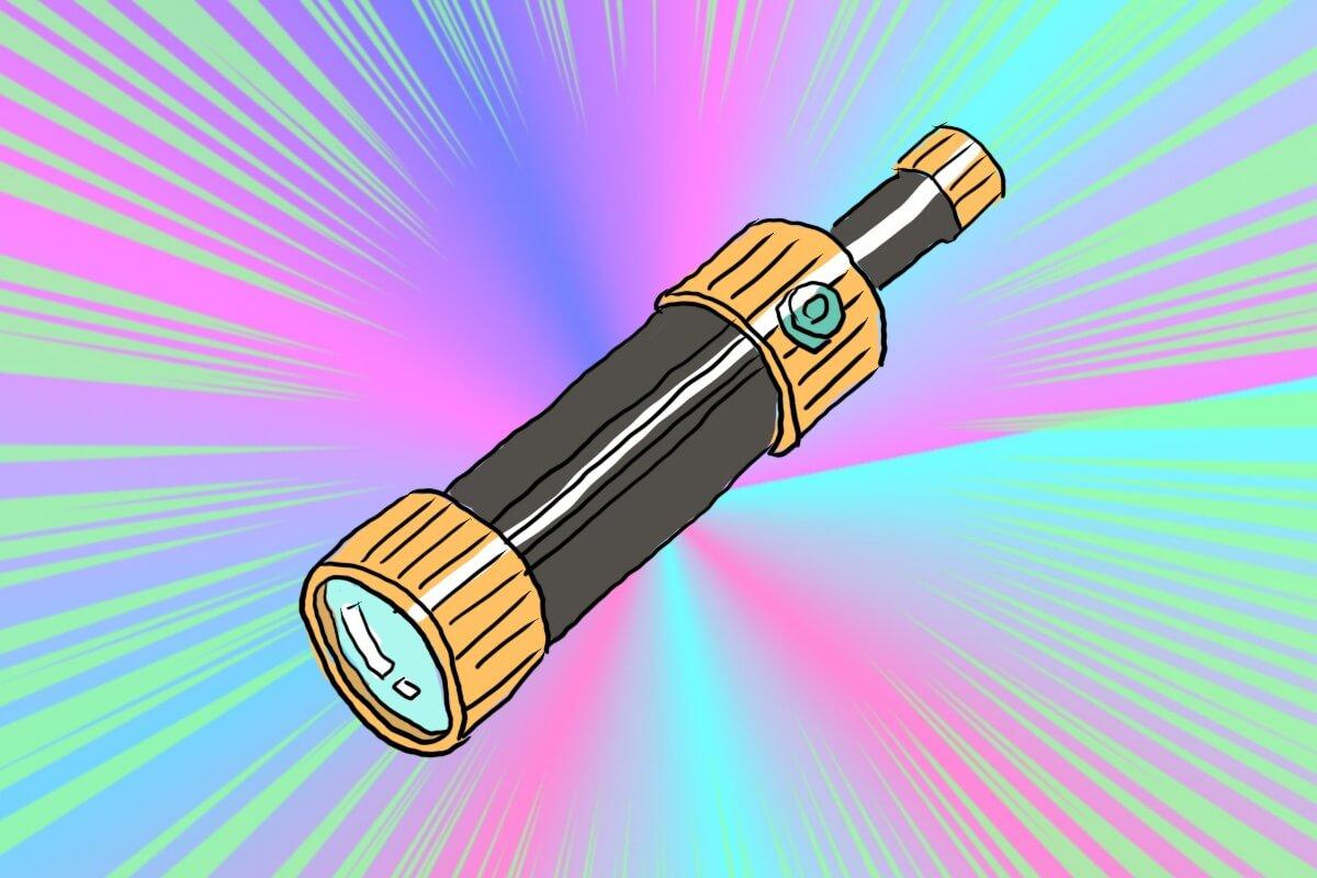 スケスケ望遠鏡