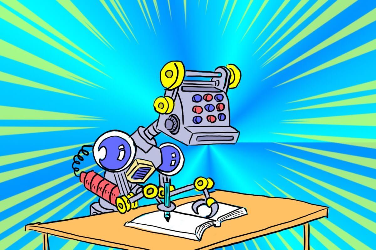 宿題をやるロボット