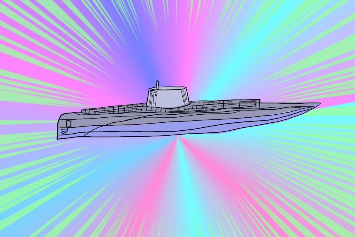 ミサイルつき原子力潜水艦
