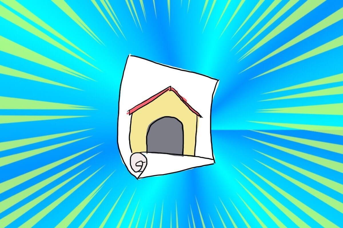 かべかけ犬小屋