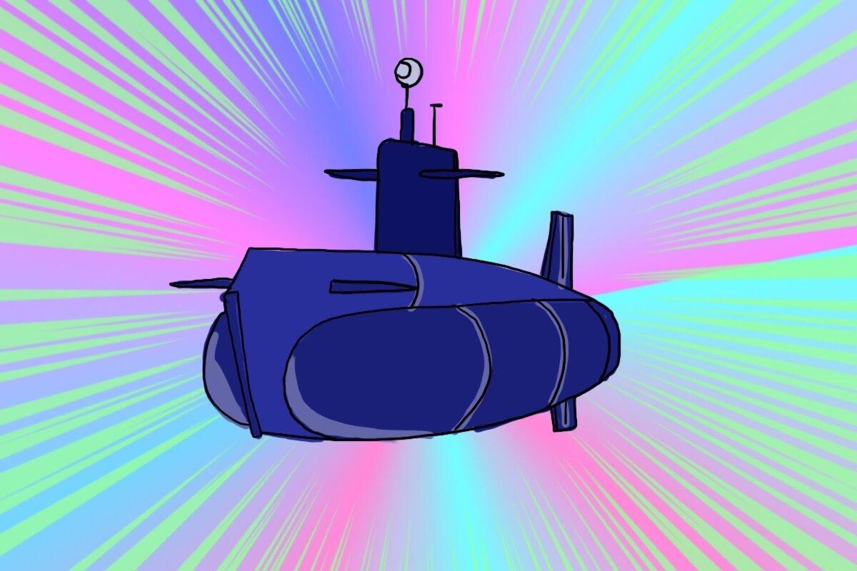 原子力潜水艦型ゼンマイ式潜地艦