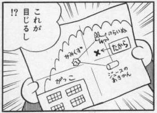 のび太が描いた宝の地図