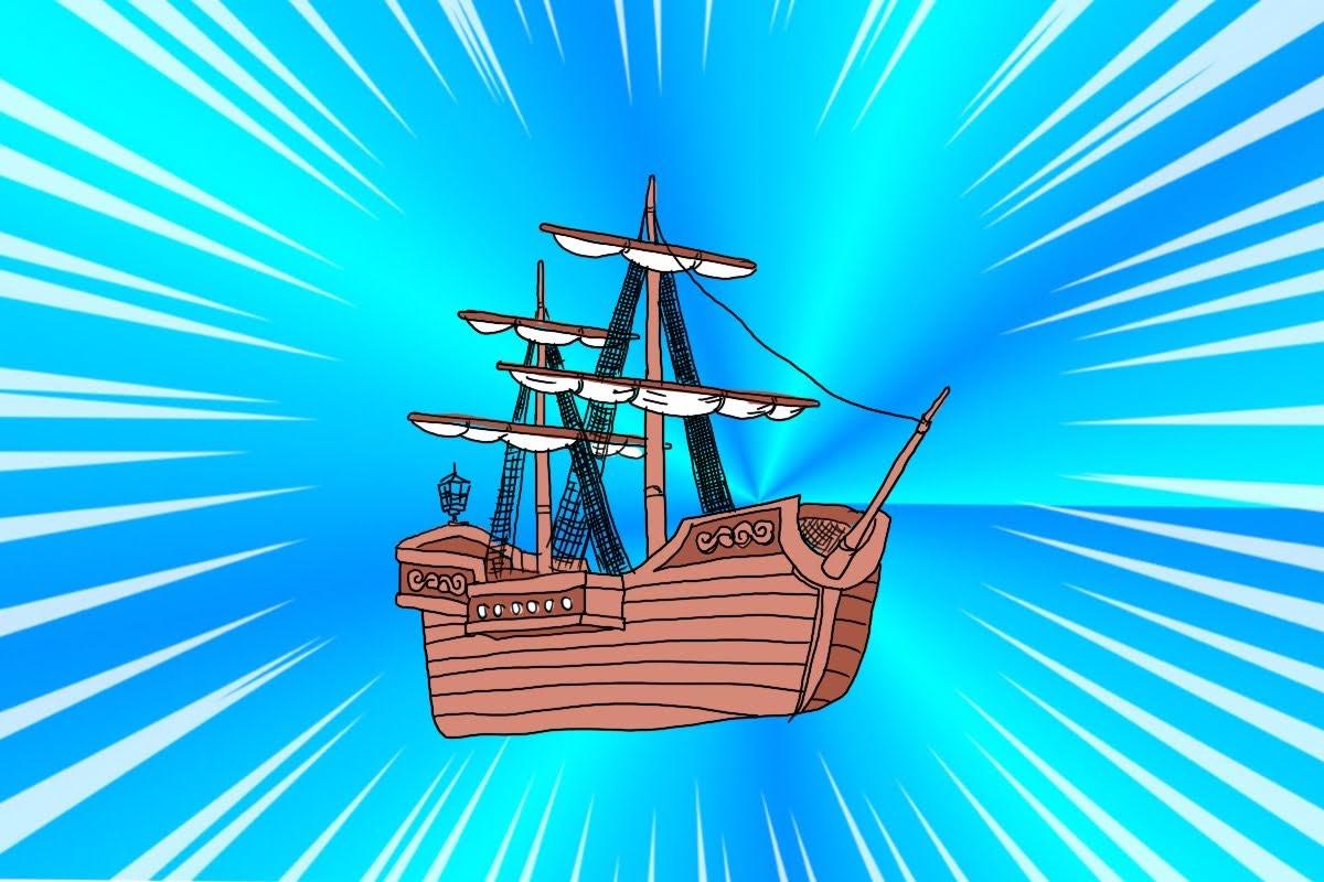 宝さがし用帆船