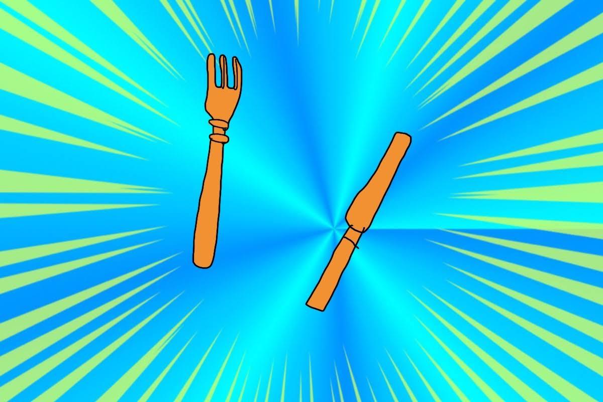 切りとりナイフとフォーク