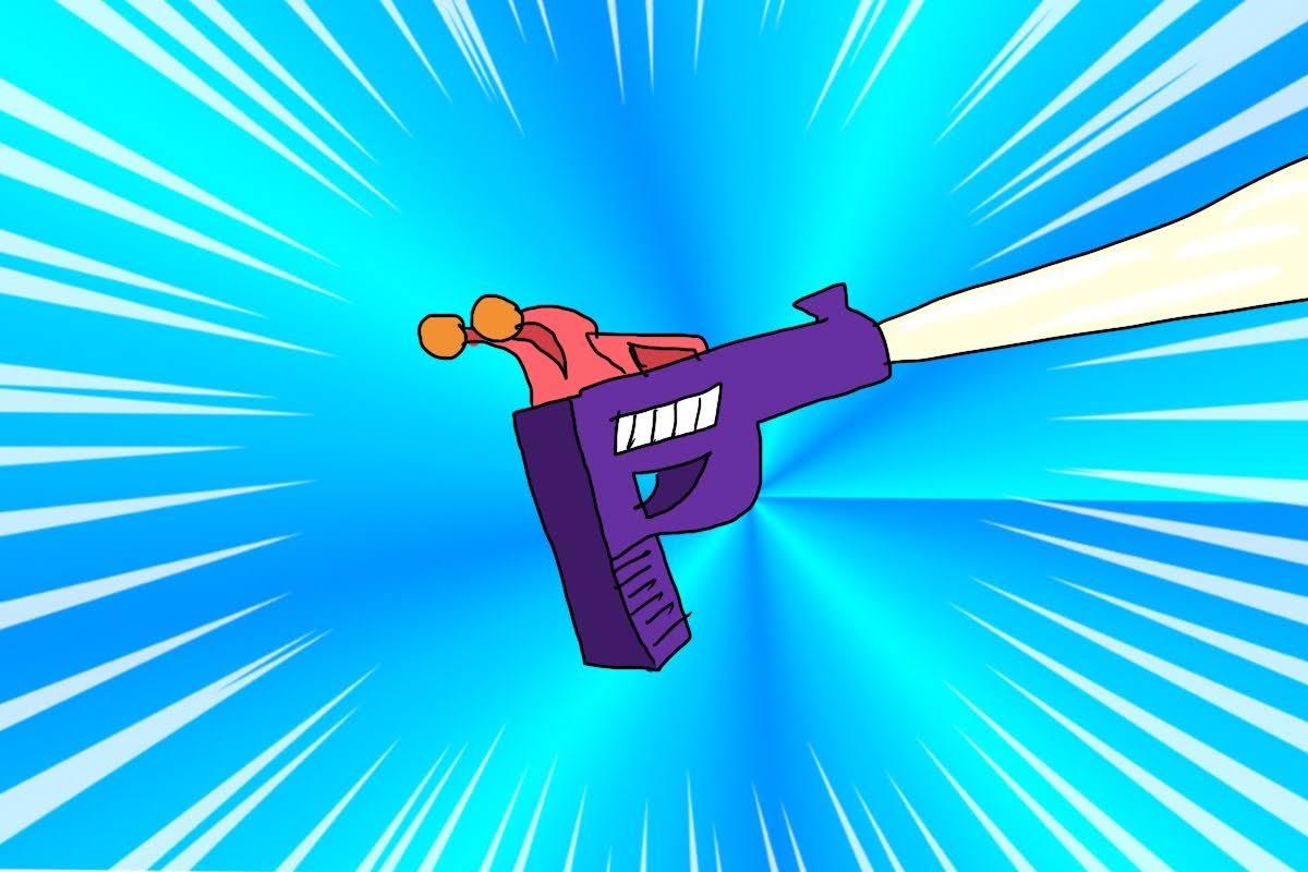 連発型不運光線銃